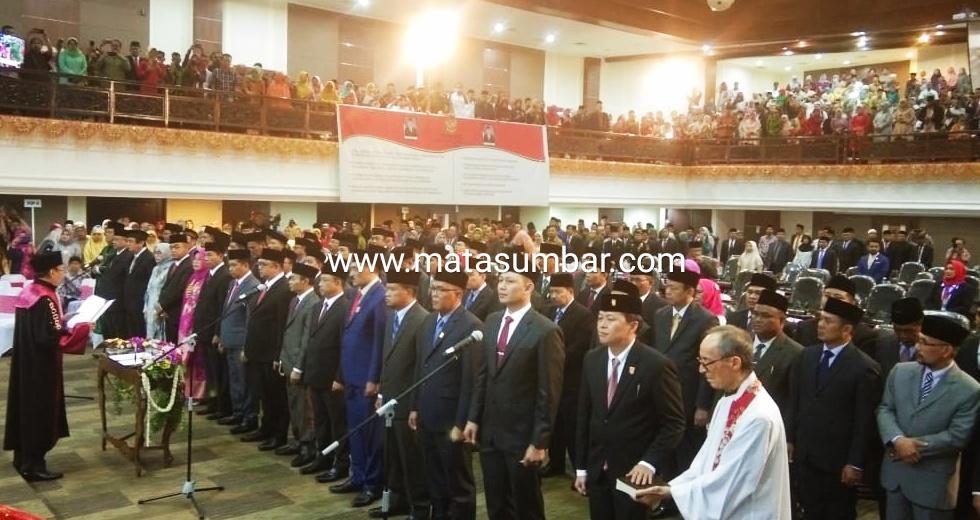 Pengadilan Tinggi Lantik 65 Anggota DPRD Sumbar Periode 2019-2024