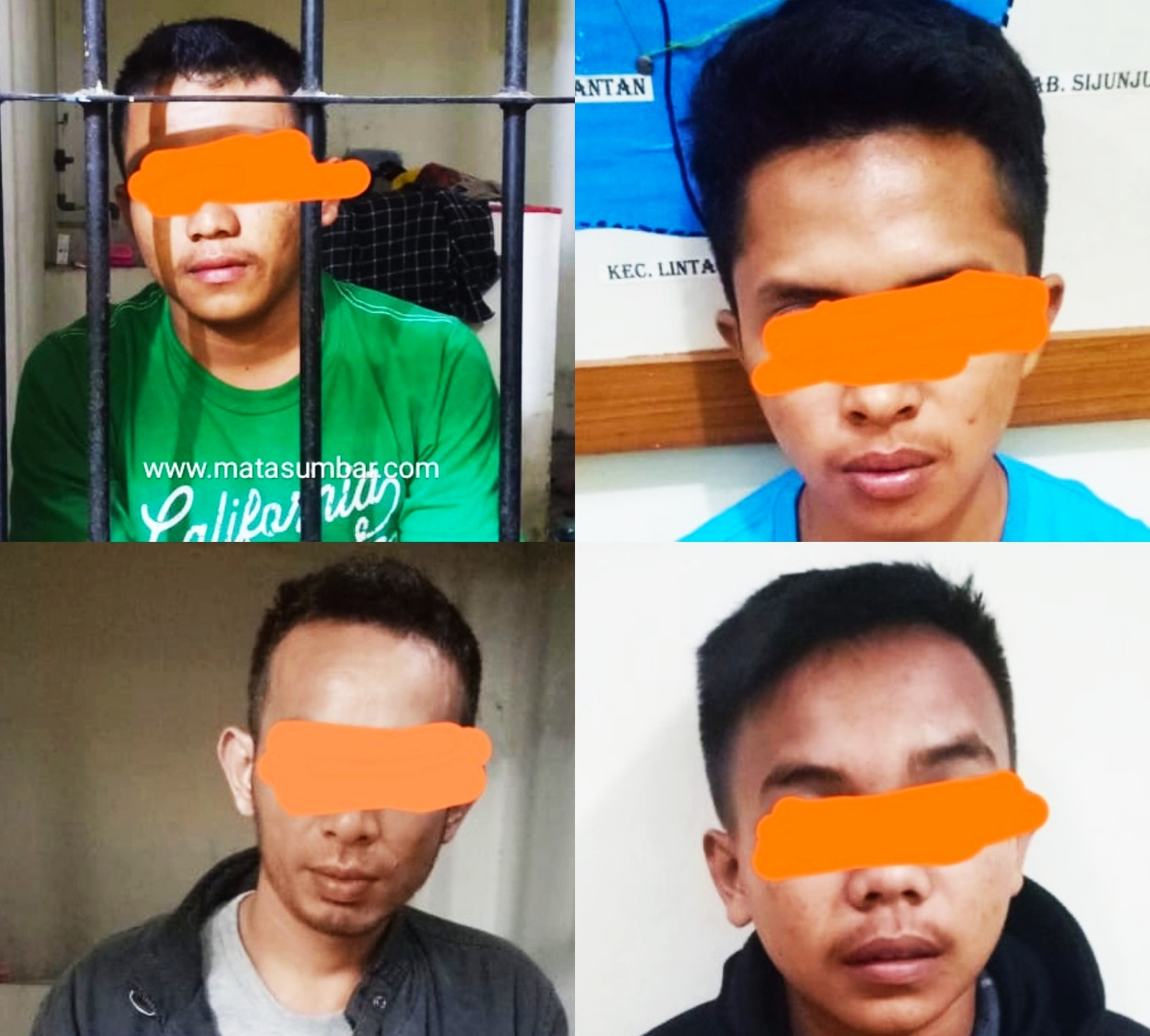 Polres Tanah Datar Ringkus 4 Orang Pelaku Pemerkosaan, Satu Orang Masih Diburu
