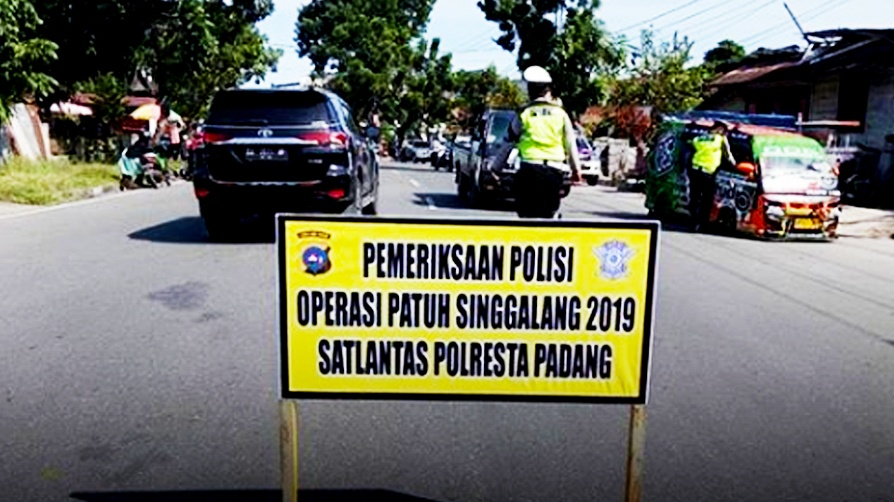 Operasi Patuh Singgalang 2019, Pelanggaran Didominasi Tak Gunakan Helmet
