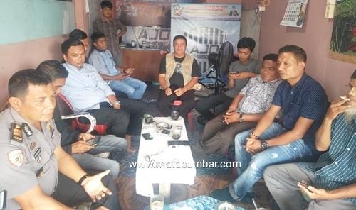 Kabag Sumda Polres Pasaman Barat Sambangi Perkumpulan Jurnalis Online Pasbar