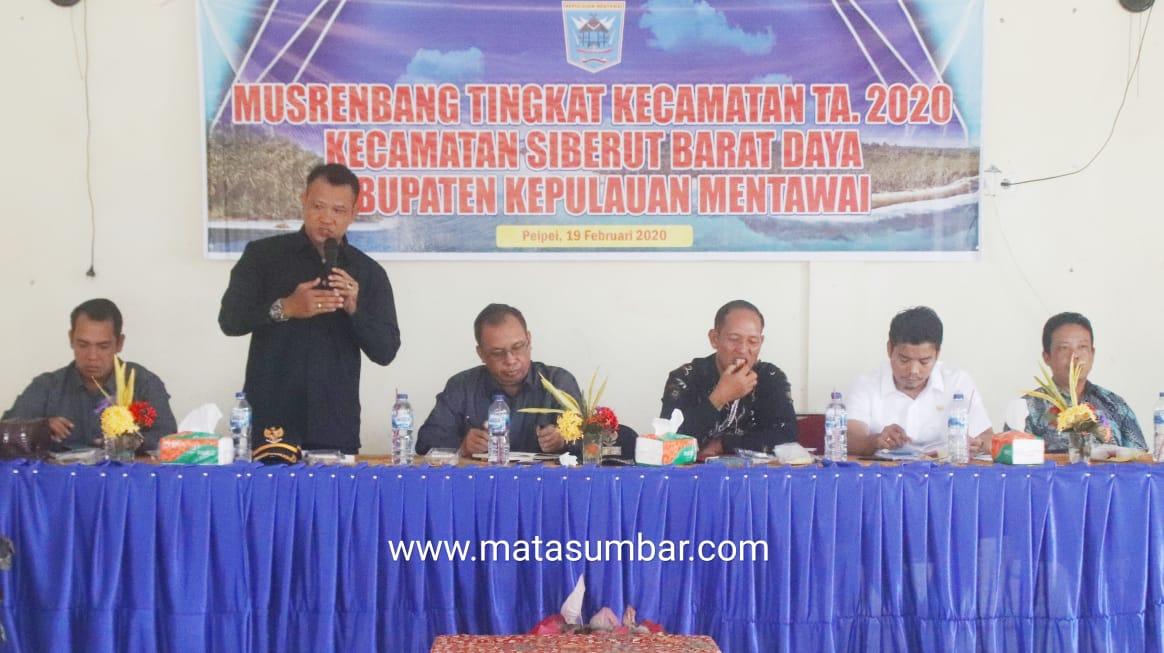 Tak Hadir Dalam Musrenbang, DPRD Mentawai Sorot Dinas Pariwisata