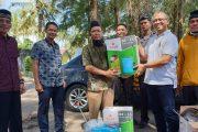 PT Angkasa Pura II Cab BIM Berikan 3 Unit Mesin Disinfektan Kepada Warga Ketaping
