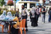 Diduga Terpapar Corona, Puluhan Tahanan dan Personel Polres Bukittinggi Jalani Rapid Test