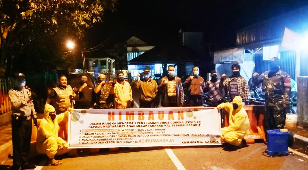 Antisipasi Penyebaran Corona, Kelurahan Tanah Pak Lambiak Berlakukan Jam Malam