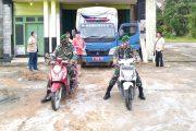 Kodim 0319/Mentawai Bersama Polri dan Satpol PP Kawal Pendistribusian Sembako