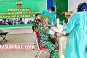 Puluhan Prajurit dan Anggota Persit Cabang Kodim 0319/Mentawai Mengikuti Donor Darah