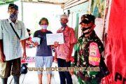 BLT-DD 12 KK Untuk Warga Dusun Boriai Didampingi Babinsa Sikakap