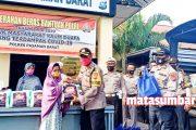 Sambut Hari Bhayangkara, Polres Pasbar Berbagi Sembako Kepada Masyarakat