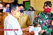 Koramil 04/Sikakap Dampingi Penyerahan Bantuan Dana Untuk Nelayan