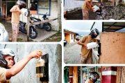 Kelurahan Pasar Usang Berinovasi Buat Pojok Handsanitizer