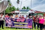 Polsek Sipora Bersama Koramil Berikan Himbauan Kekerasan Terhadap Anak di Desa Nemnemleleu