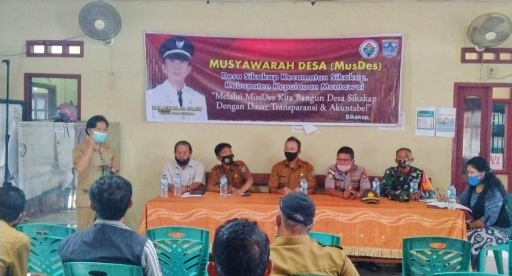 Musdes Anggaran 2021 Desa Sikakap di Hadiri Babinsa Koramil 04/Sikakap