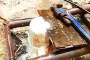 Peristiwa Langkah, Sumur Bor di Kampung Ampalu Pessel Keluarkan Gas dan Percikan Api