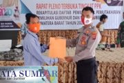 Rapat Pleno DPHP Tingkat PPK Kecamatan di Hadiri Bhabinkamtibmas Polsek Sipora