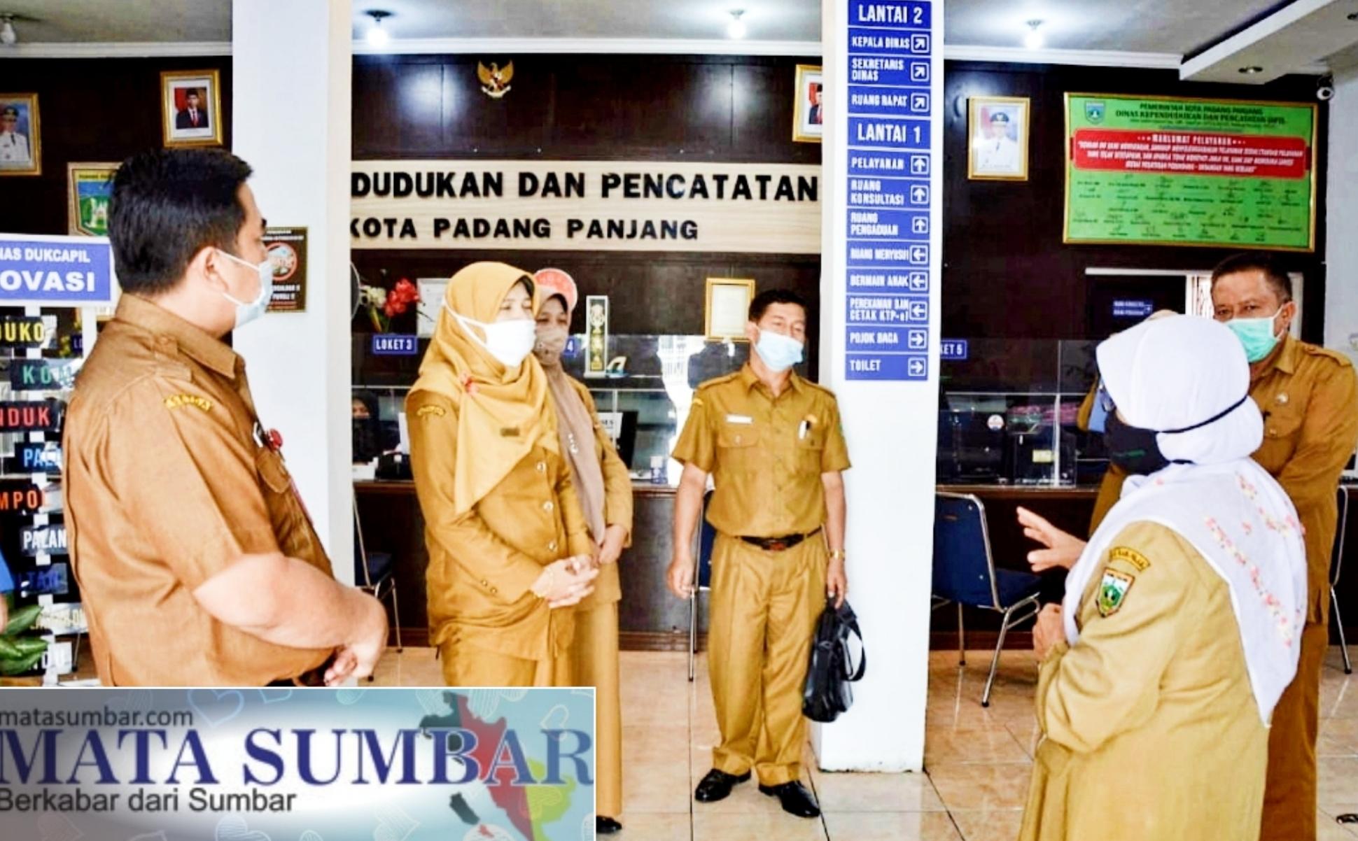 Tim Penilai Pelayanan Publik Pemprov Sumbar Evaluasi Dua OPD di Padang Panjang