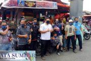 PWI Padang Panjang Bagikan 300 Masker Untuk Ojek, Sopir Angkot dan Wartawan
