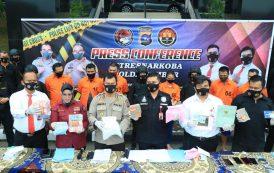 Enam Pelaku Narkotika Jaringan Internasional Berhasil Diringkus Ditresnarkoba Polda Sumbar