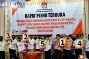 Lima Paslon Bupati dan Wakil Bupati Pasbar Mengikuti Pengundian Nomor Urut