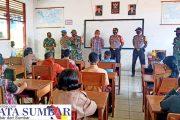 Sinergitas Koramil Dengan Polsek Sikakap Berikan Pembekalan Disiplin Prokes Kepada Pelajar SMP