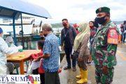 Penegakan Disiplin Prokes, Babinsa Sikakap PAM di Kapal Gambolo