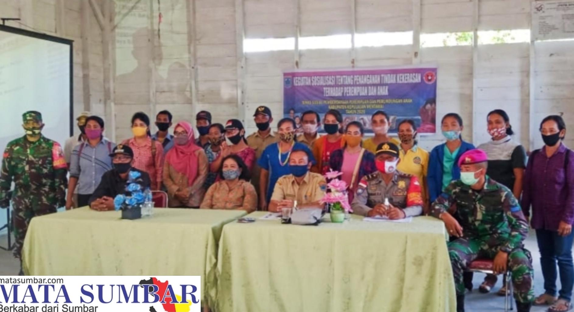Koramil Bersama Polsek Sikakap Sosialisasi Penanganan Kekerasan Perempuan, Anak dan KDRT di Desa Matobe