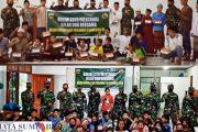 Peringati Hari Pahlawan, Kodim 0319/Mentawai Gelar Doa Bersama Serta Berbagi Makanan Kepada Anak Panti Kaum dan Ponpes