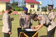 Sertijab Kasat Lantas Dari Iptu Dedi Arma Kepada Iptu Roni di Pimpin Kapolres Mentawai