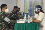 Satgas TMMD Ke-110 Kodim 0319/Mentawai Jalani Vaksinasi Covid-19