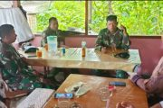 Komsos Bersama Warga, Satgas TMMD Bahas Pertanian dan Keamanan Lingkungan