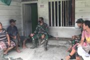 Jalin Komunikasi, Satgas TMMD Berbincang Dengan Ibu-Ibu di Dusun Mapaddegat