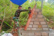 Tugu Prasasti Kedua di Titik Km.5 Mulai di Bagun Satgas TMMD