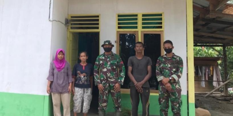 Satgas TMMD Temui Penerima Manfaat Rehab RTLH, Marjuki : Kami Sekeluarga Sudah Bisa Tinggal di Rumah Layak Huni
