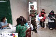 Vaksinasi Lanjutan Kepada Guru dan ASN di Dampingi Koramil 02/Muara Siberut