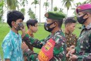 Koramil 04/Sikakap Patroli Gabungan di Sejumlah Gereja dan Bagikan Masker