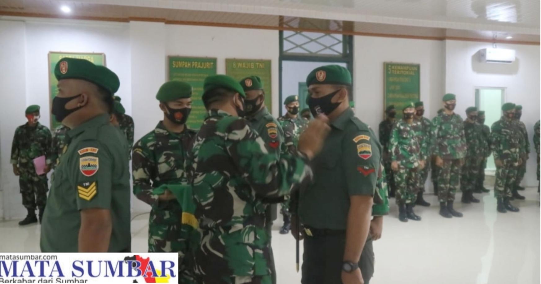 11 Bintara dan 2 Tamtama Personel Kodim 0311/Pessel Naik Pangkat