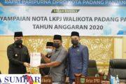LKPj Tahun 2020 di Sampaikan Wako Fadly di Ruang Sidang Utama DPRD Padang Panjang