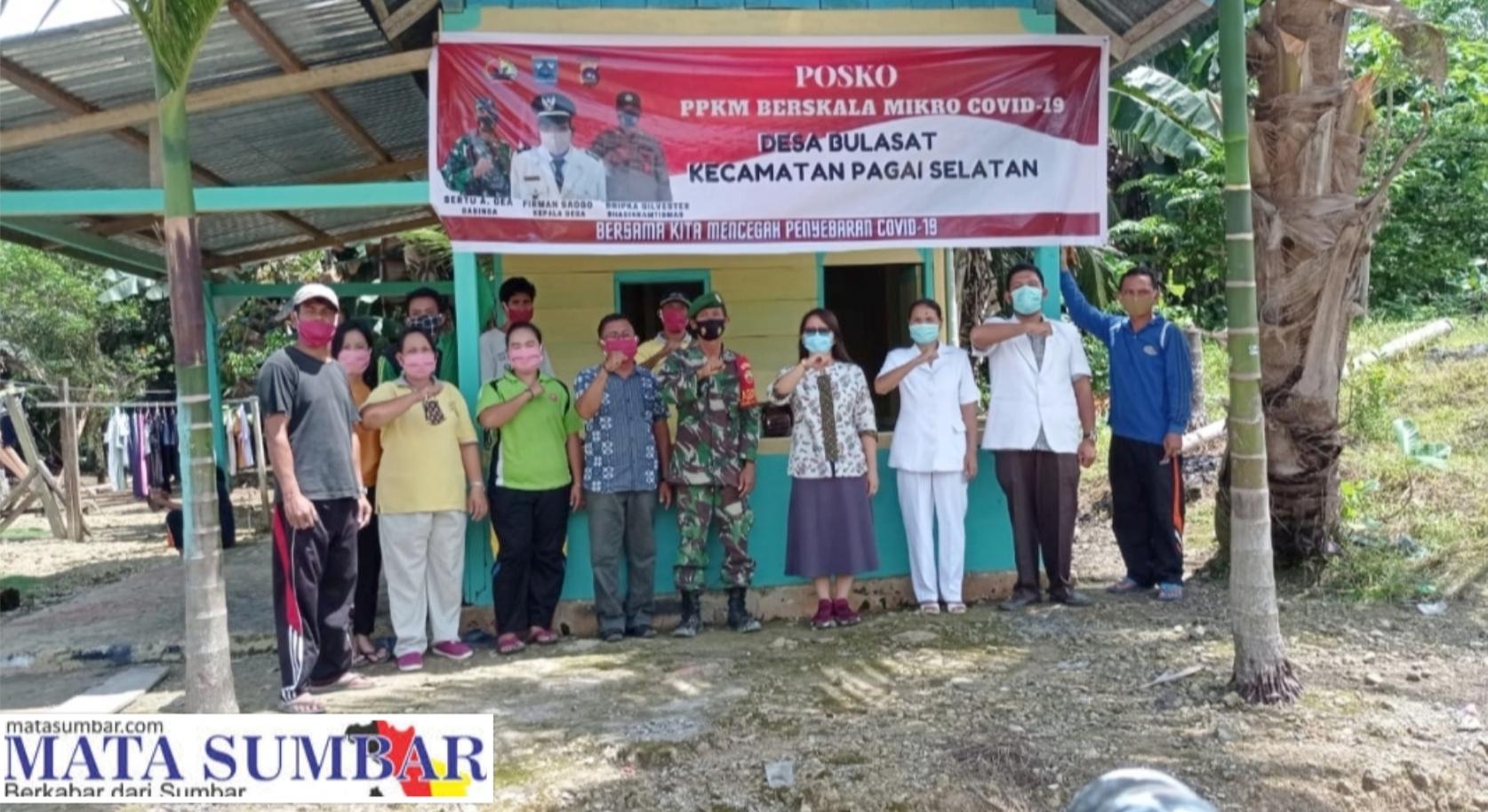 Posko PPKM Mikro di Desa Bulasat di Bentuk