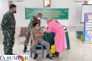 Vaksinasi Bagi Purnawirawan TNI-AD di Pessel Kembali di Lanjutkan
