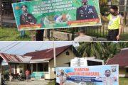 Timbulkan Kesadaran Masyarakat, Polsek Sipora Pasang Spanduk Prokes di Pusat Keramaian