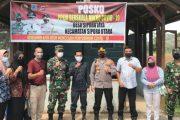 Dandim Bersama Kapolres Mentawai Cek Posko PPKM di Sejumlah Desa