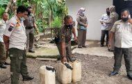Minuman Keras Jenis Tuak Sebanyak 128 Liter di Amankan Satpol PP Pasbar di Dua Lokasi