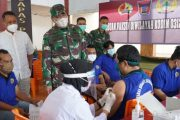 Vidcon Dengan Panglima TNI, Danrem 032 : Vaksinasi di Sumbar Akan Terus di Geliatkan