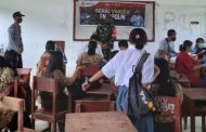 Serbuan Vaksinasi Massal di SMAN 1 Pagai Selatan di Dampingi Babinsa Sikakap